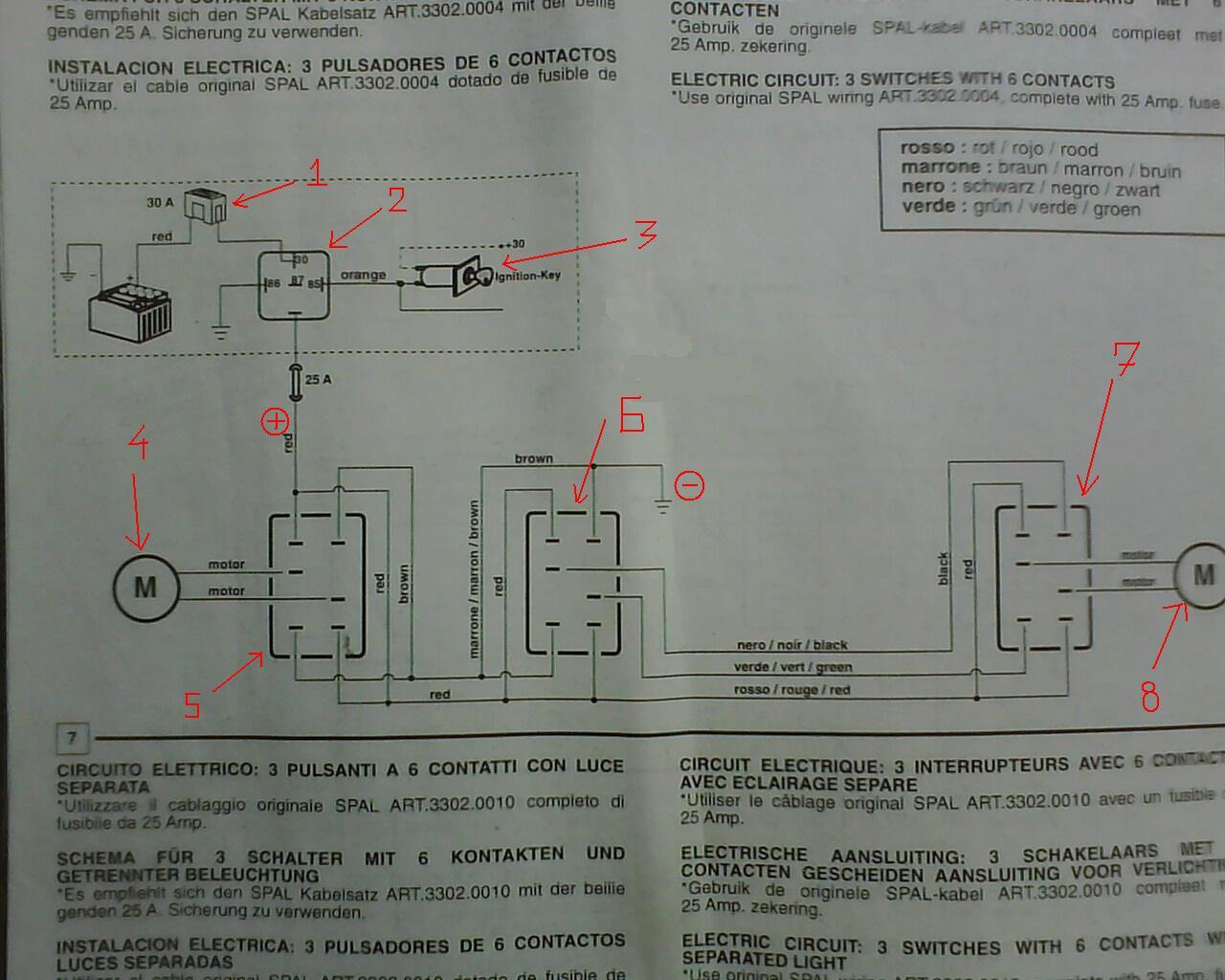 Схема подключения стеклоподъемников электрическая